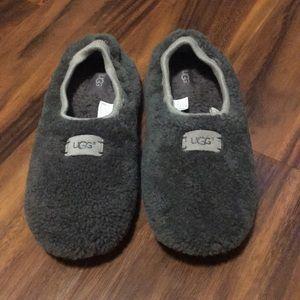 UGG Birche Charcoal Grey Sherpskin Slippers